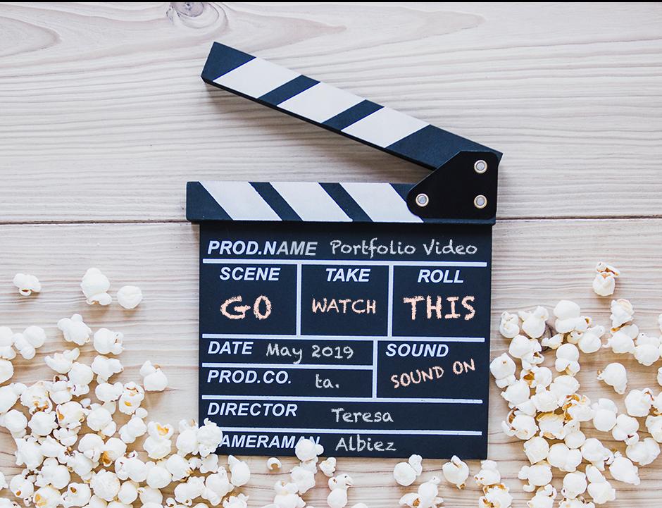 Movie Clapper with Popcorn